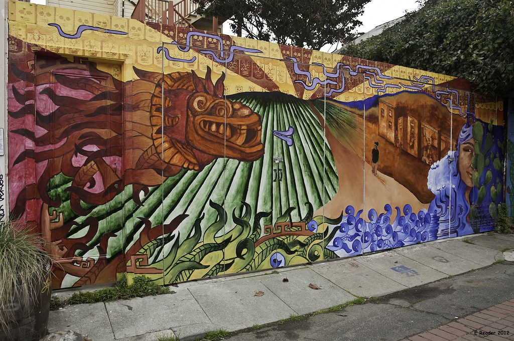 The chicano art inspired murals of balmy alley the for Chicano mural movement