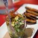 ahi tuna poke with crispy eggplant chips