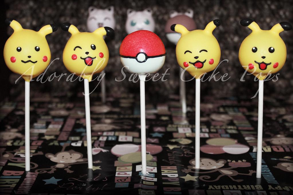 Pokemon Cake Pops Pikachu And Pokeball