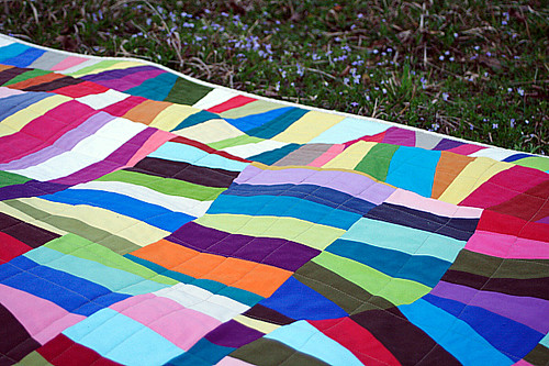 Quilted in a loose grid | by StitchedInColor