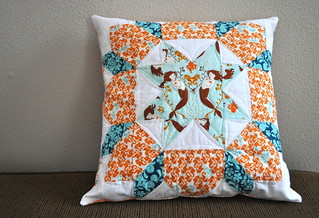 finished mermaid swoon pillow | by vickivictoria