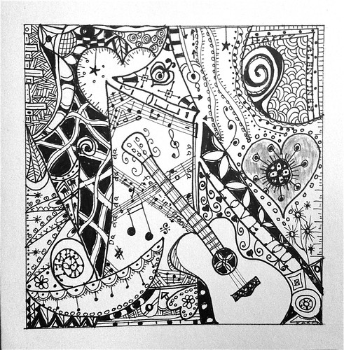 Cool Zentangle Coloring Pages