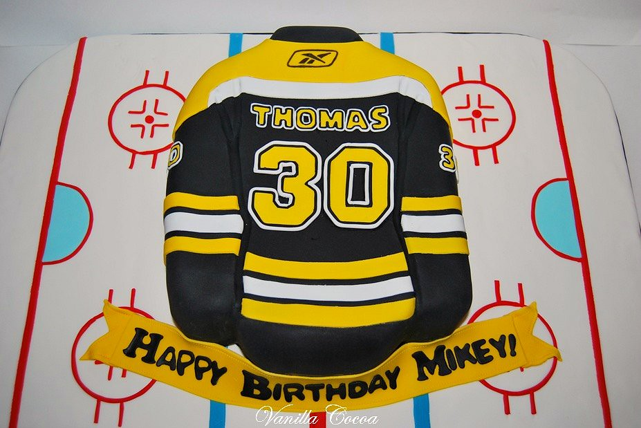 Boston Bruins Jersey Cake Huge Fan Birthday Boys