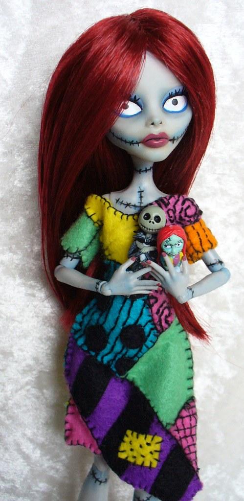 Monster High Custom Sally From Nightmare Before Christma