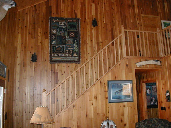 Red Cedar Message Board ~ Cabin paneling vertical western red cedar was