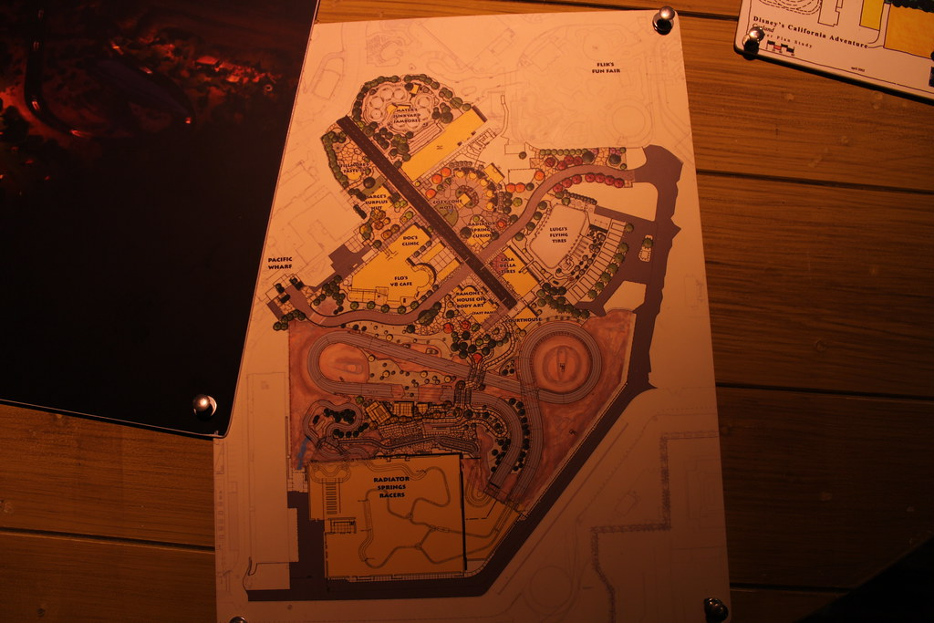 About It >> Layout of Carsland (Radiator Springs) | It's a pure genius