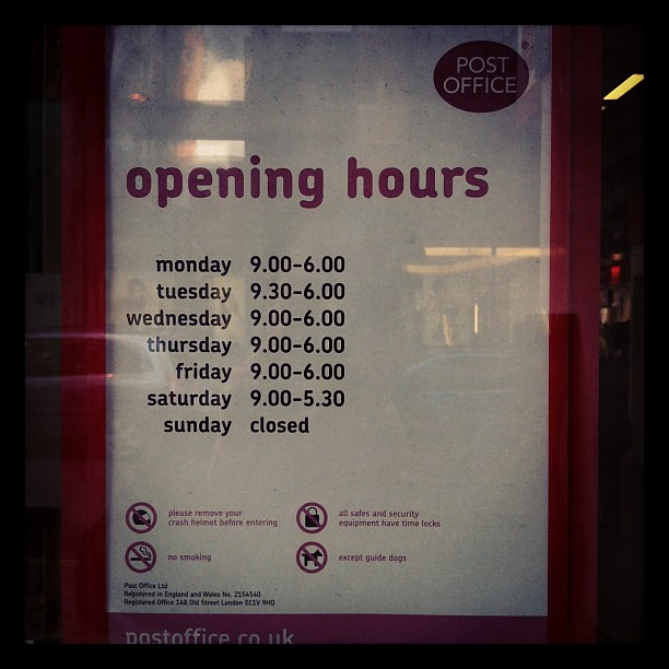 Manchester post office opening hours today sat until 17 flickr - Post office working today ...