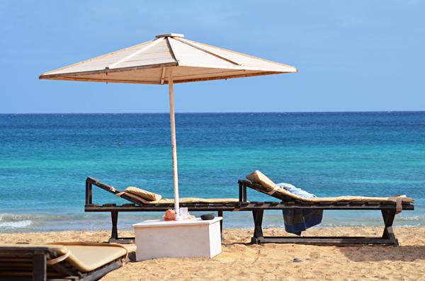 Sunloungers, Sal, Cape Verde