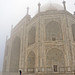 Taj Mahal in the morning fog