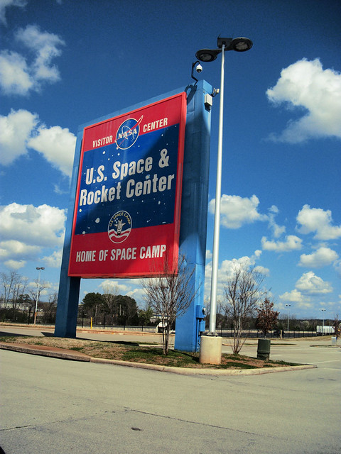 us space and rocket center sign - photo #2