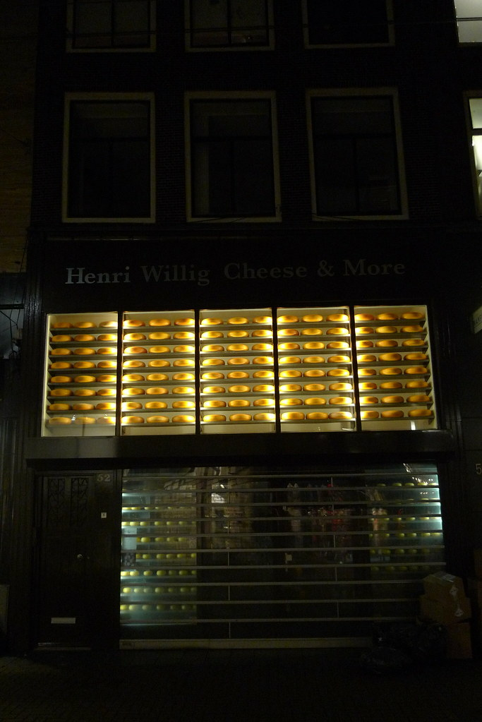 Vitrine de Henri Willig Cheese & More - Amsterdam, janvier ... Henri Willig