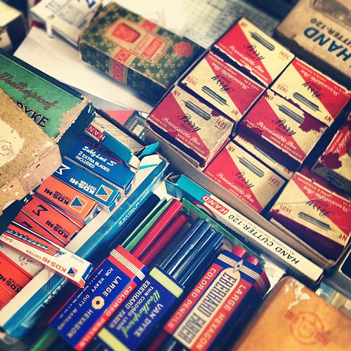 Calligraphy nibs, old pencils, calendar. Closing sale | by Patrick Ng