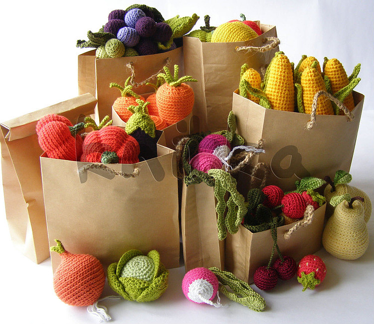 crochet fruit and vegetables Olga Flickr