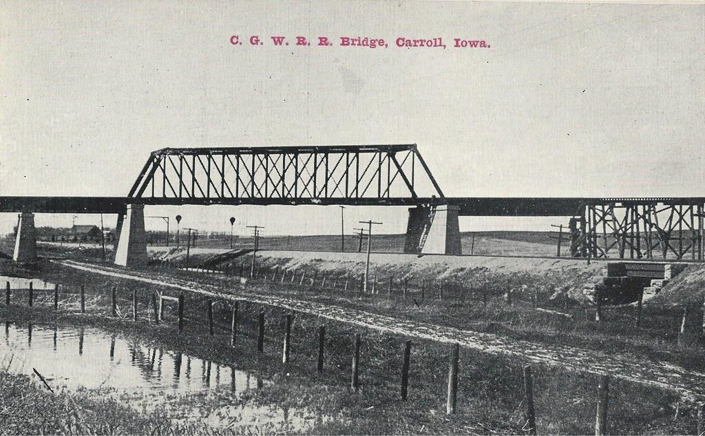 carroll  iowa  cgw  chicago great western railroad  cnw  c