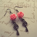 Fanciful Deluxe - Coral Rose Key Dangle Earrings