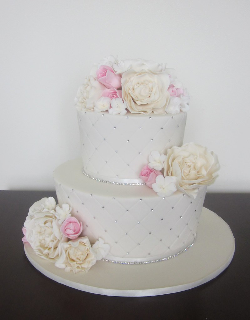 Bling Wedding Cakes Pink Ivory Bling Wedding Cake