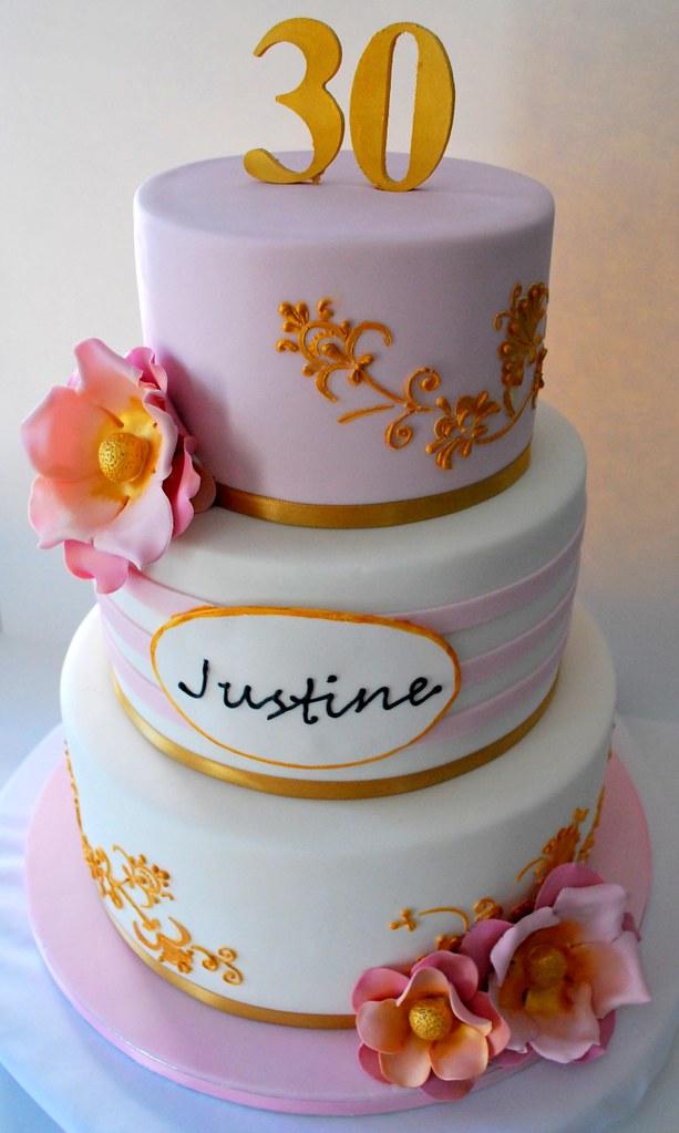 Justine S 30th Birthday Cake Justine S 30th Birthday