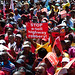 COSATU led a protest march to Parliament in Cape Town as part of organised marches around the country on Wednesday, March 7, 2012. Discontent is growing among the workers in South Africa.