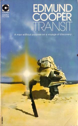 Transit by Edmund Cooper. Coronet 1974. Cover art Chris Foss. ISBN 0340164646