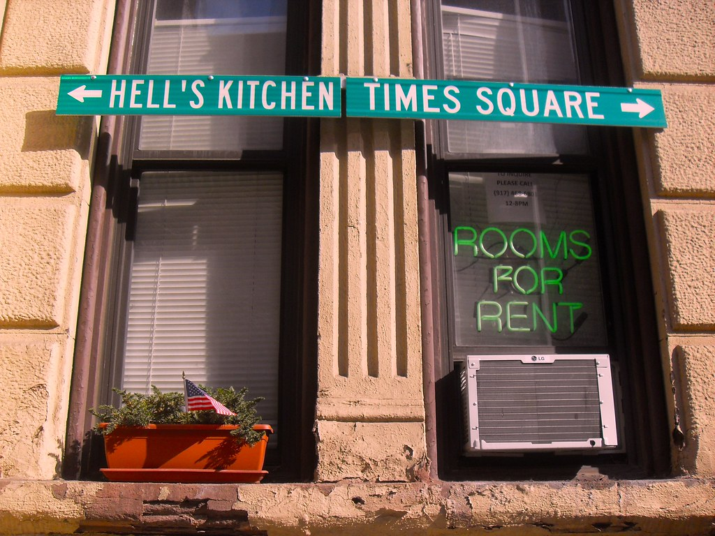 Street signs on hells kitchen apartment nyc www for Hell s kitchen nyc apartments