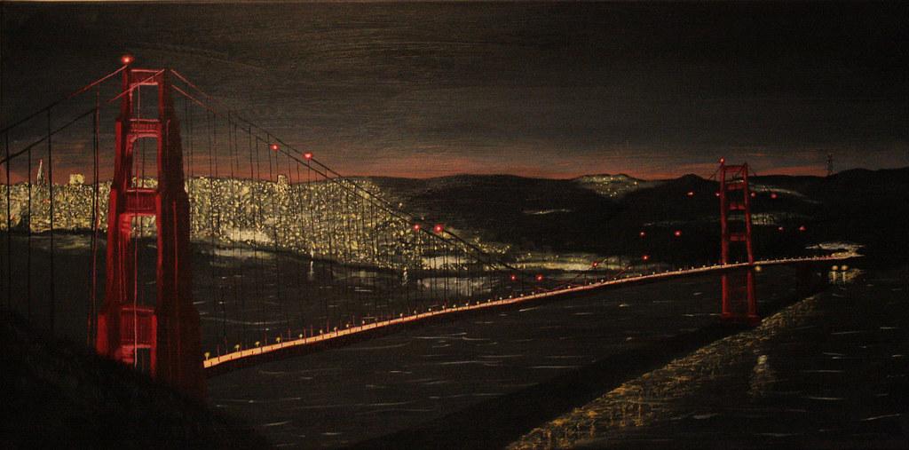 Golden Gate Bridge Acrylic Golden Gate Bridge in