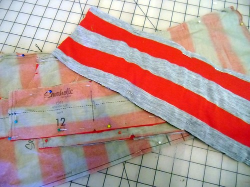 next Renfrew - red & grey stripes! | by lladybird