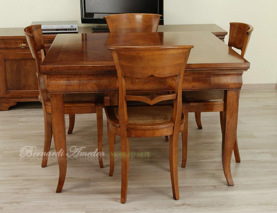 Tavolo quadrato allungabile tavolo quadrato in noce for Tavolo allungabile quadrato 120x120