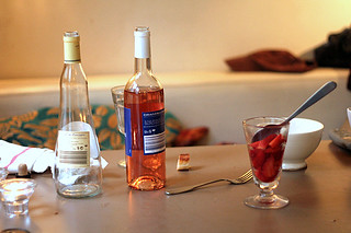 rosé and strawberries | by David Lebovitz