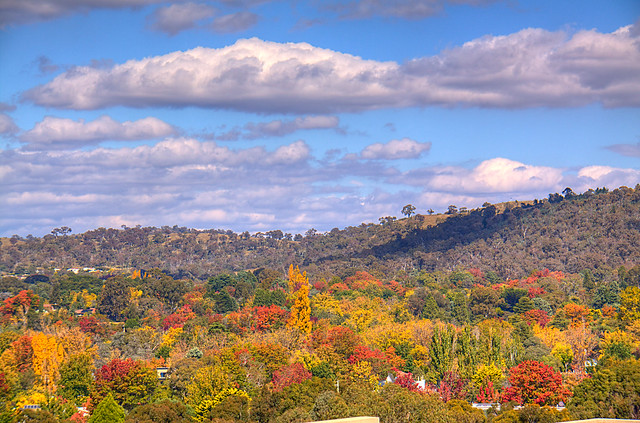 Canberra colours autumn colours as seen from parliament ho flickr photo sharing - Beautiful panoramic view house to take full advantage of the scenery ...