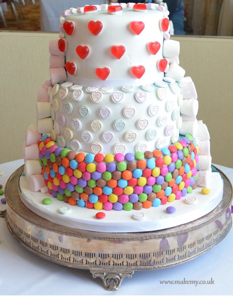 Half And Dr Who Candy Wedding Cake Sweet
