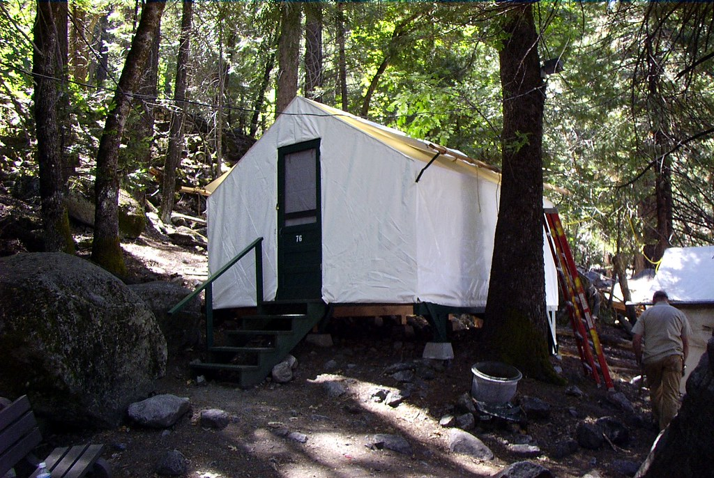 Tent cabin at camp curry yosemite president abraham for Cabins in yosemite valley