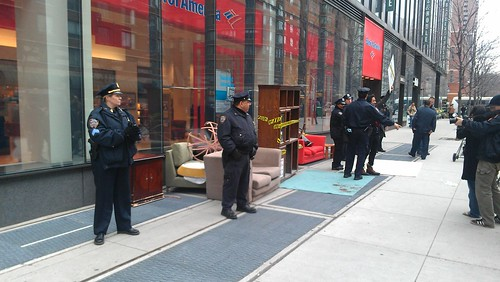 Police guarding the #OWS living room | by agreatbigcity