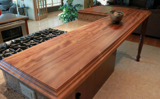 Solid Wood Kitchen Couter Finishes