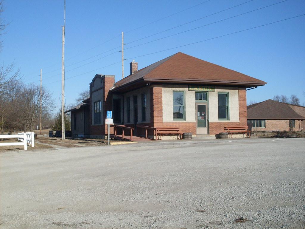CB&Q depot at Lamoni, Iowa This beautiful brick and stucco u2026 Flickr