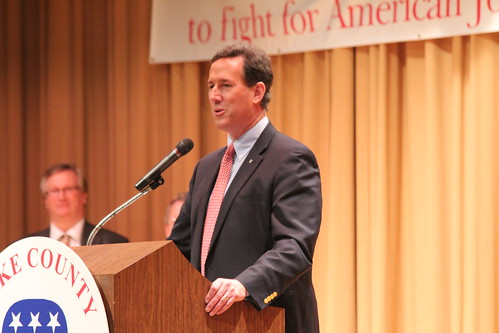 Rick Santorum speaks in Eastlake, Ohio | by NewsHour