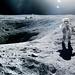 Charlie Duke on the Moon, April 21, 1972