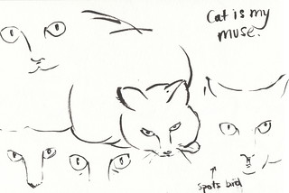 cat is my muse | by finslippy