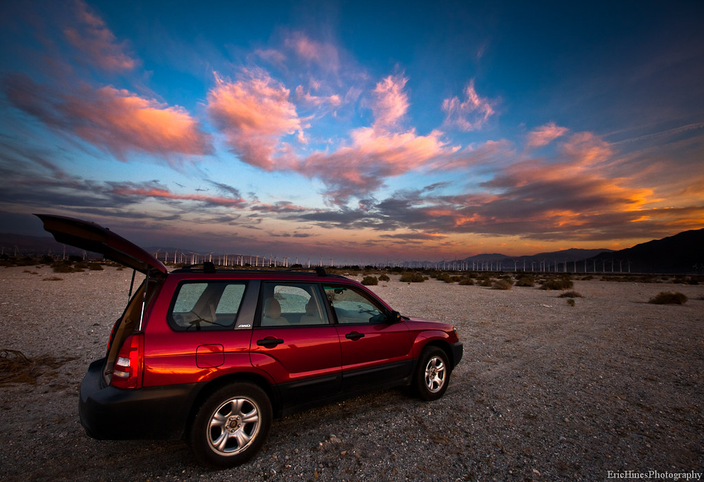 Palm Springs Sunset with the Subaru | Eric Hines | Flickr