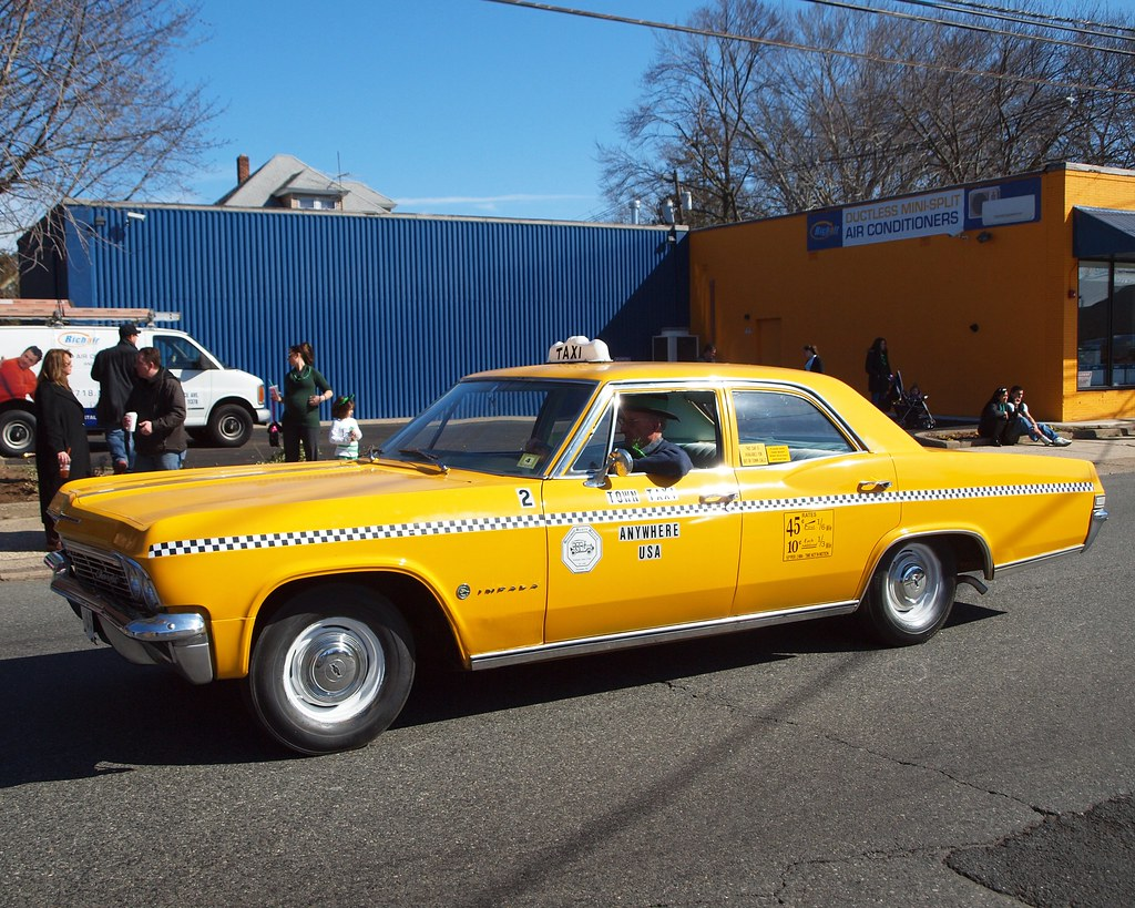 1965 Chevrolet Impala Yellow Taxi Cab 2012 St Patrick S