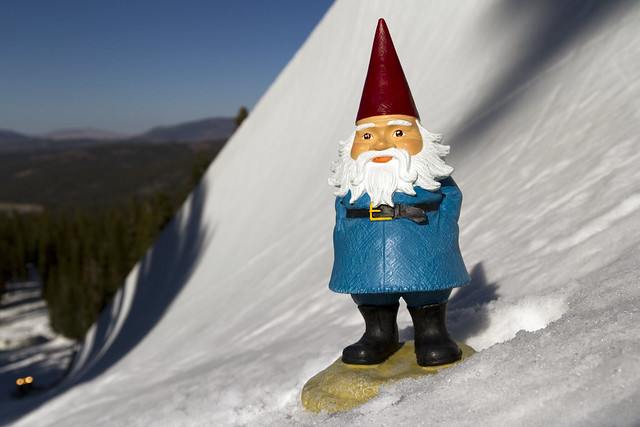 the travelocity gnome at northstar flickr photo sharing