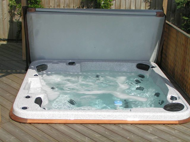 hot tub in ground by freedom leisure flickr photo sharing