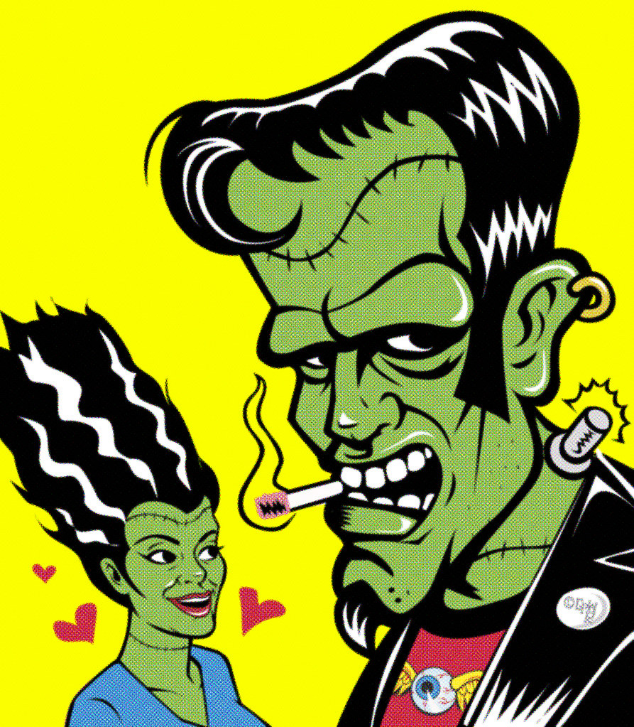 Create A Rockabilly Poster With Vector Set 22: R.f. Has A Way With The Ladies