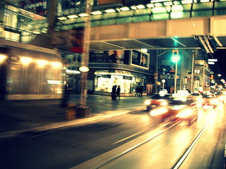 taxis pass Eaton Centre @ night | by go ask alice . . .