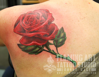 Large rose tattoo | by johnny gage
