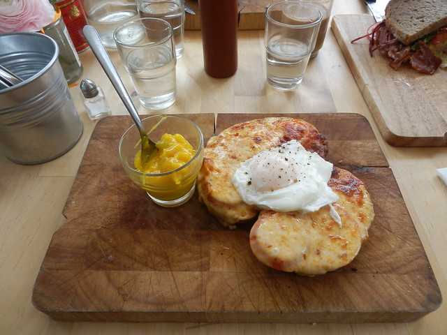 Guinness Welsh rarebit with tomato and poached egg | Flickr - Photo ...