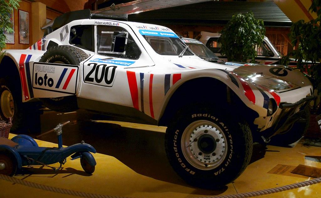 Buggy France Loto Hubert Auriol Paris Dakar 1989 White R