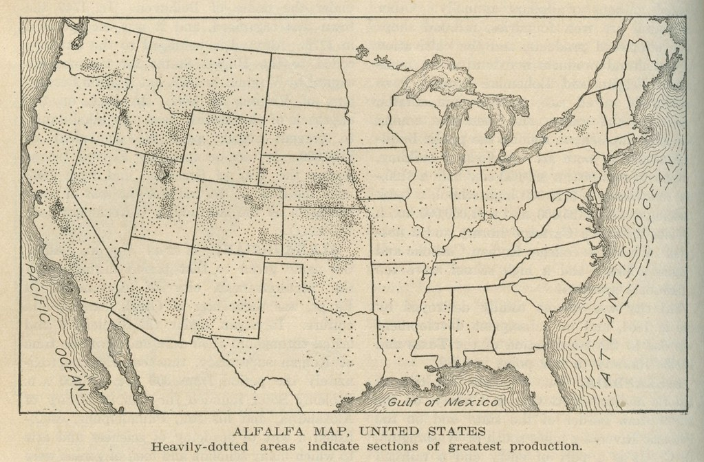 Alfalfa Map United States Seems To Be Clustered By Flickr - 1920 us map