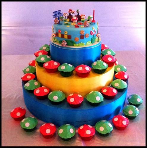 Mooshroom Birthday Cakes