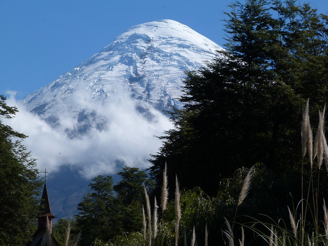 Cráter del volcán Osorno (Región de los Lagos, Chile)
