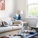 Derek Swalwell {beige, white and blue scandinavian vintage flea market modern living room}